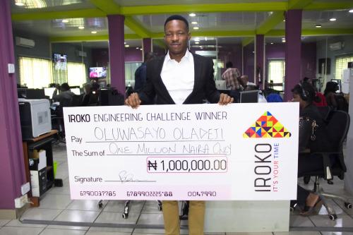 Sayo Oladeji wins iROKOtv's first ₦1m Engineering Challenge