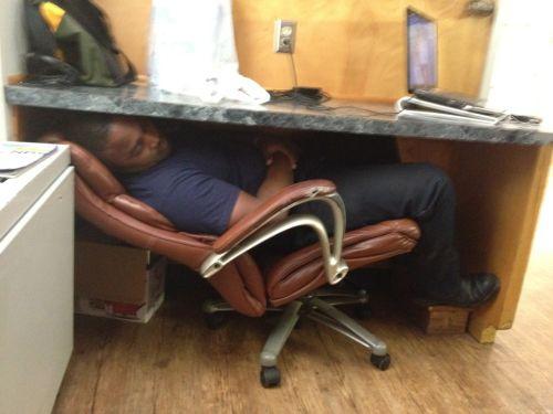 sleep on job