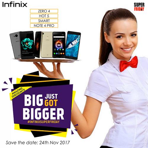 Buy Infinix Zero 5 — 5% discount on all Infinix smartphones this Black and SUPER Friday