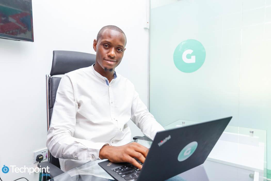 Deji Odutan, CEO of Gokada in his office