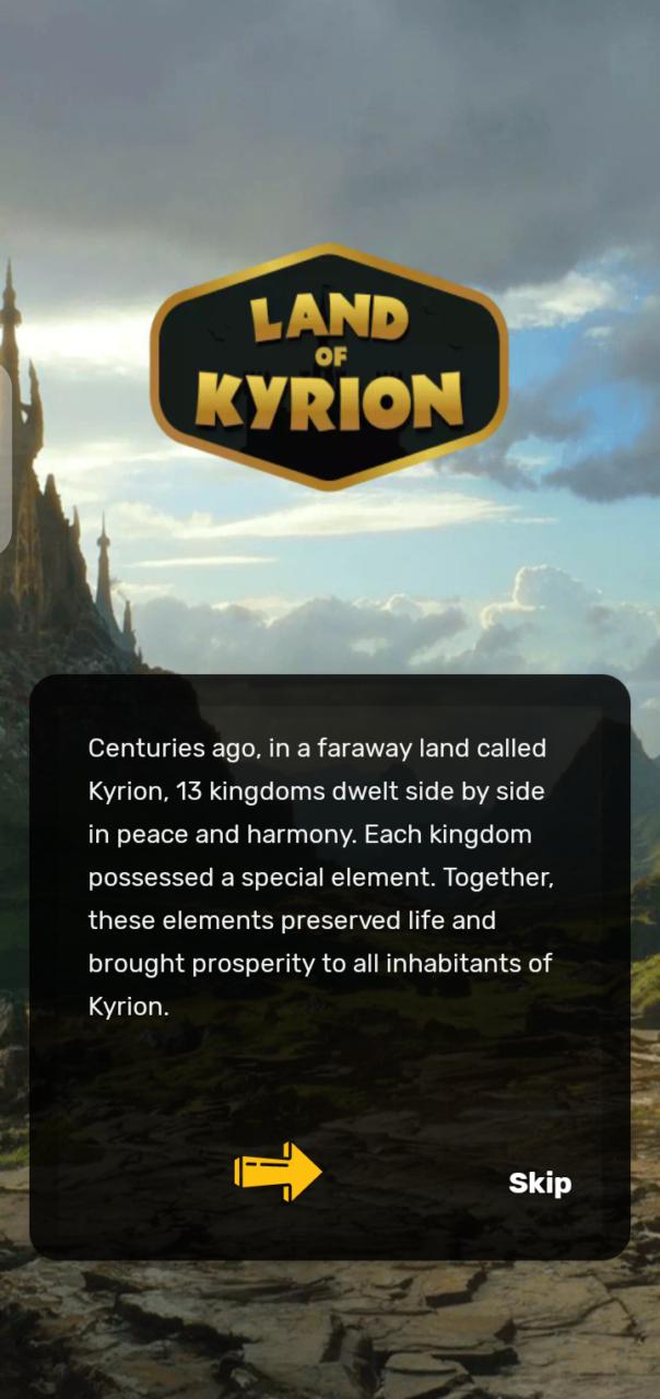 Land of Kyrion Backstory