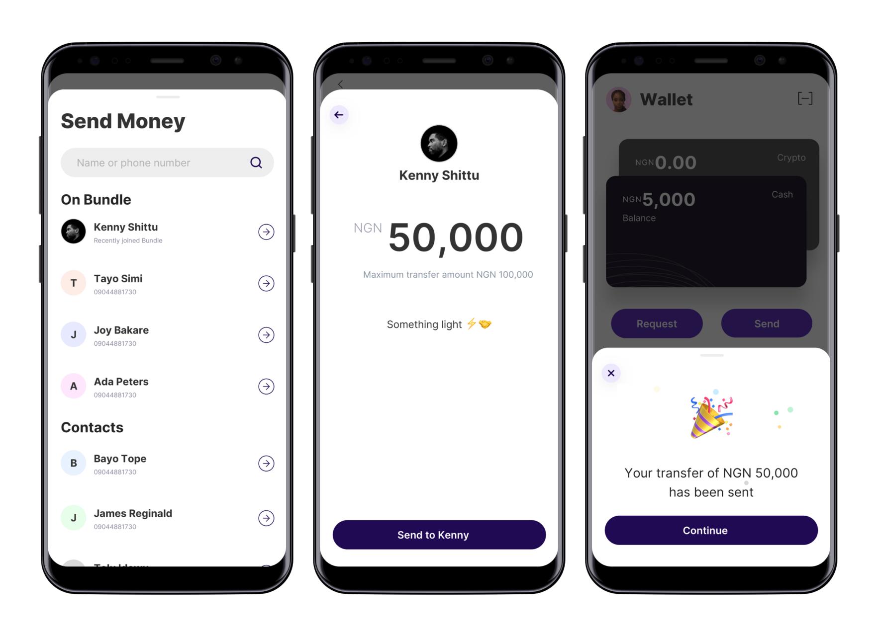 Send Money Screens