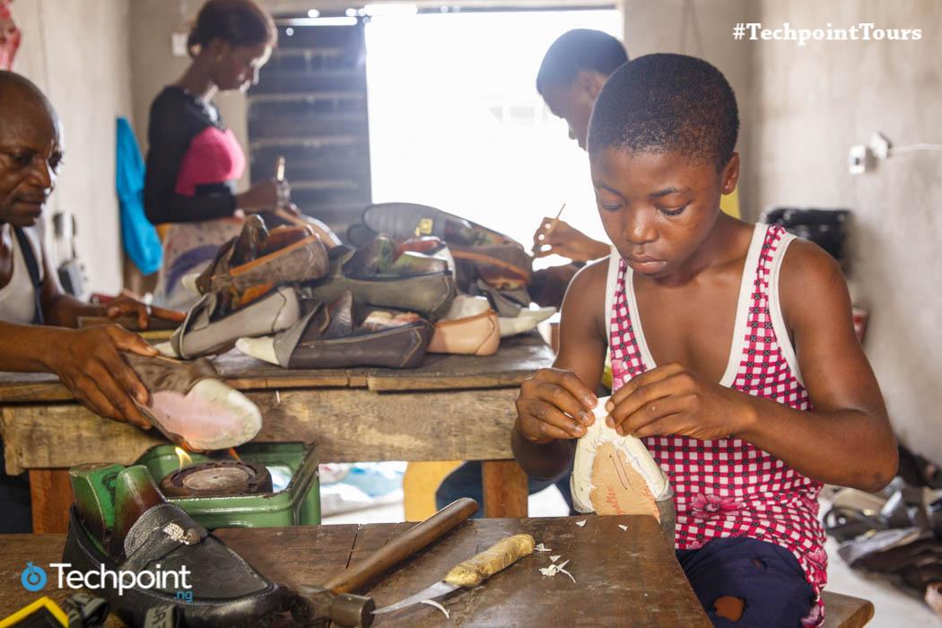 Apprentice in Ariaria market, Aba