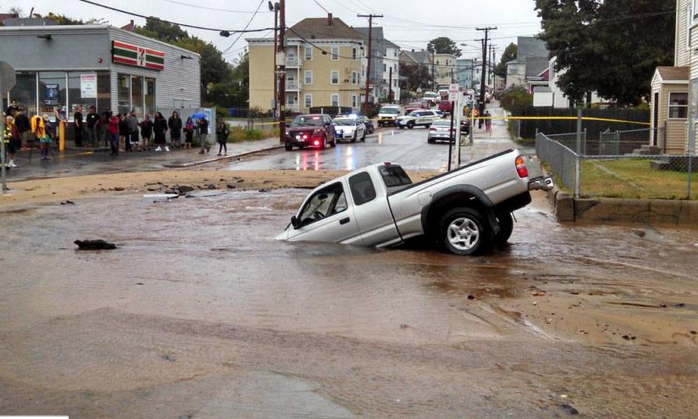 car sinkhole
