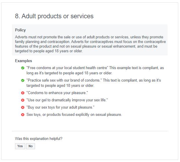facebook ad policy