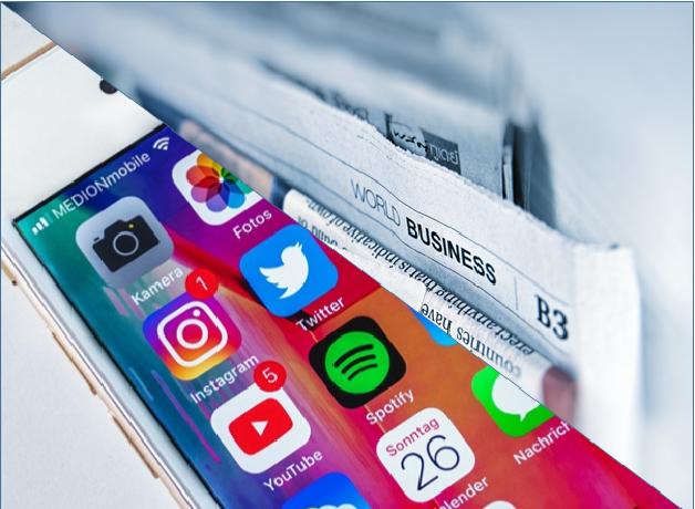 news and social