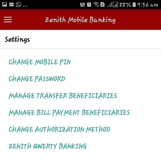 zenith bank app