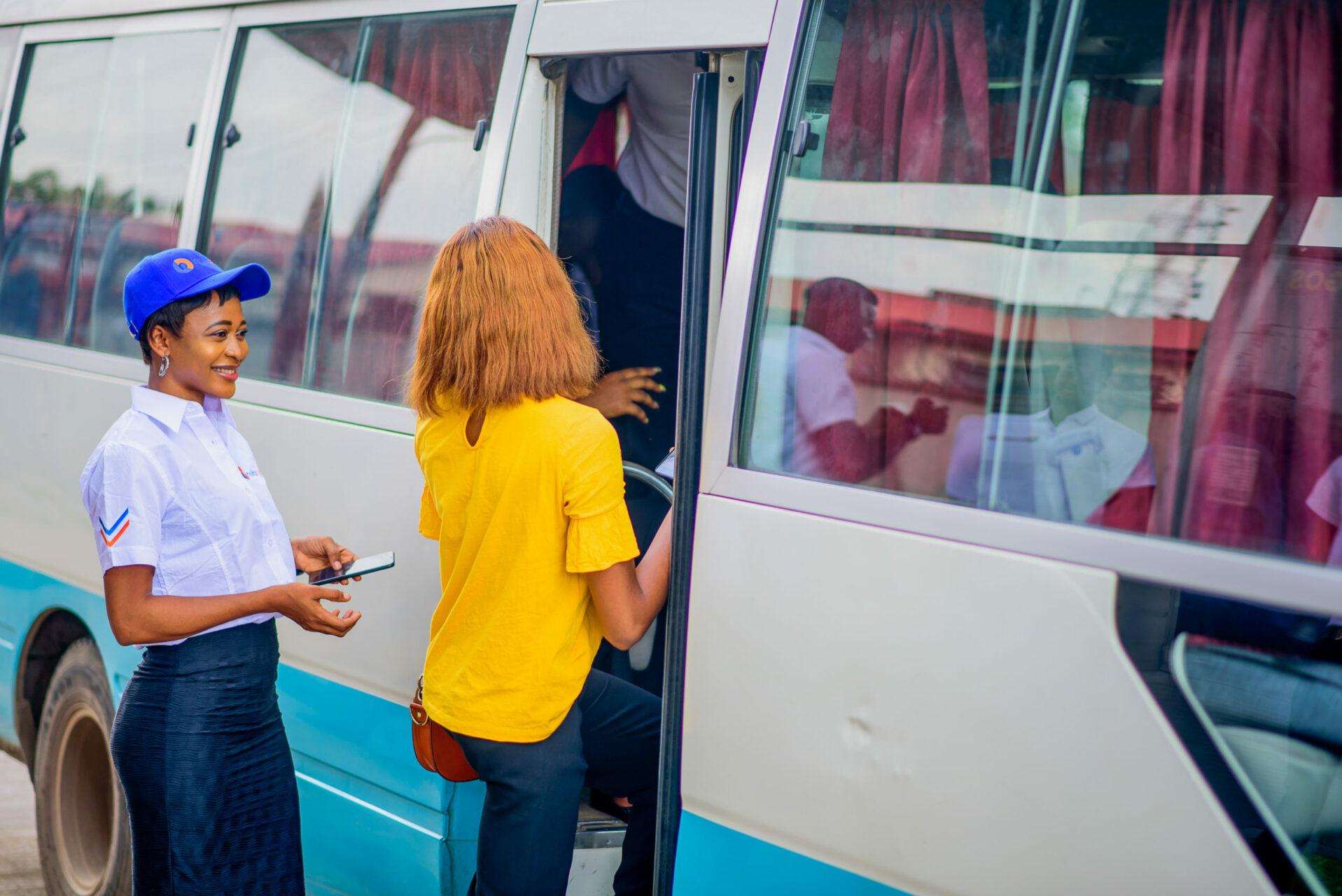 FLAFront Line Ambassador ushring a customer in scaled 1