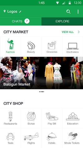 A screenshot of BuyChat homescreen