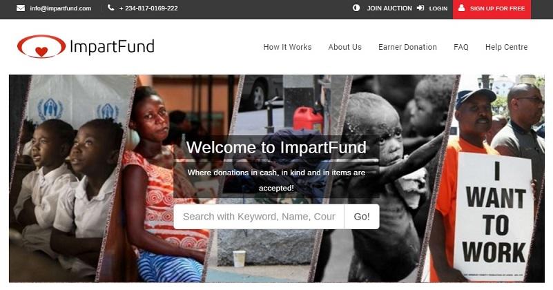 ImpartFund website screenshot