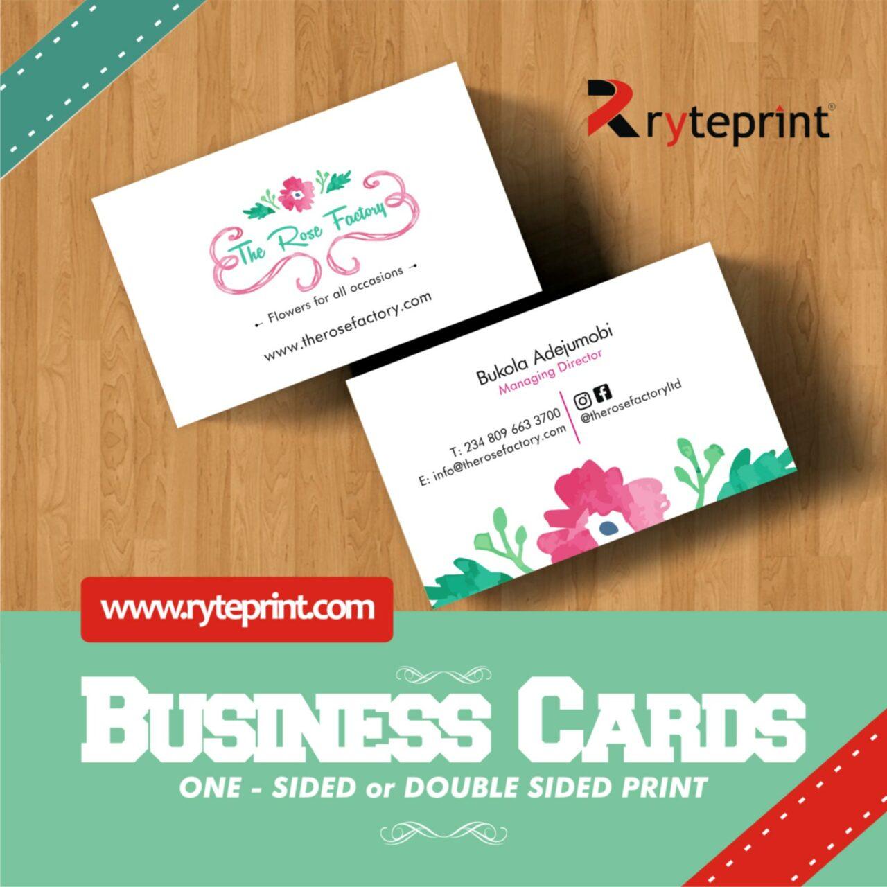 Ryteprint Business Cards Ad 1