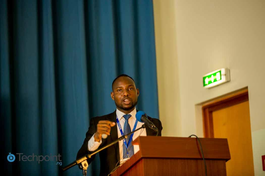 Timi Olagunju speaking at the Nigerian Internet Governance Forum