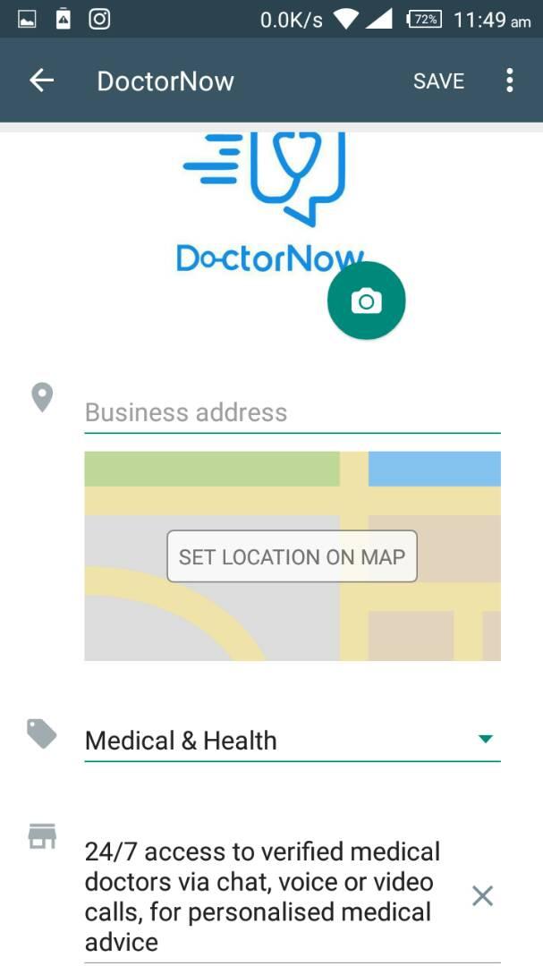 WhatsApp Business App: Profile