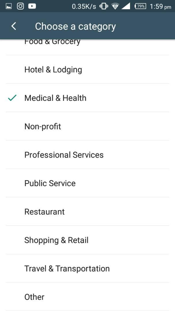 WhatsApp Business App: : Category