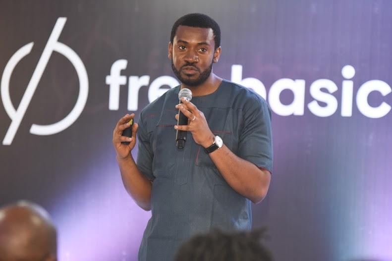 Emeka speaking on Facebook free basics in Lagos