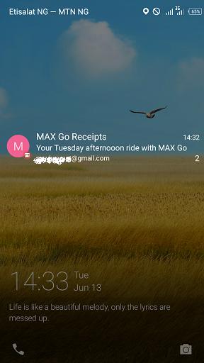 max go receipts
