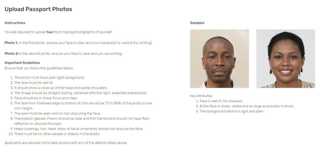 Photo information INEC screenshot